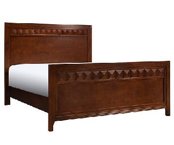 Raymour & Flanigan Shadow Queen Bed in Espresso