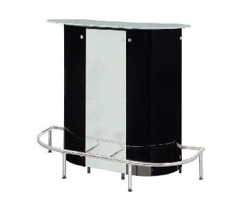 Contemporary Bar Unit w/ Shelves & Wine Holder