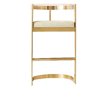 Anthropologie Oscarine Lucite Counter Stools