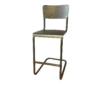 Restoration Hardware Schoolhouse Cantilevered Metal Stool