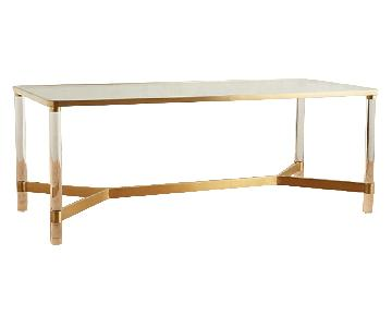 Anthropologie Oscarine Lucite Dining Table