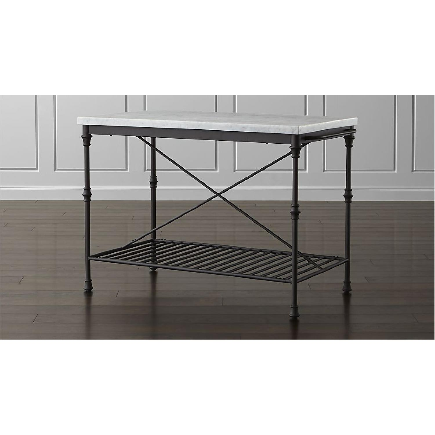 ... Crate U0026 Barrel French Style Kitchen Island/Dining Table 0 ...