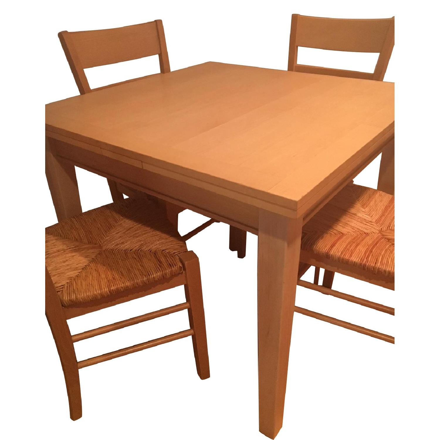 Kitchen Table 4 Chairs Crate barrel extendable kitchen table w 4 chairs aptdeco crate barrel extendable kitchen table w 4 chairs workwithnaturefo