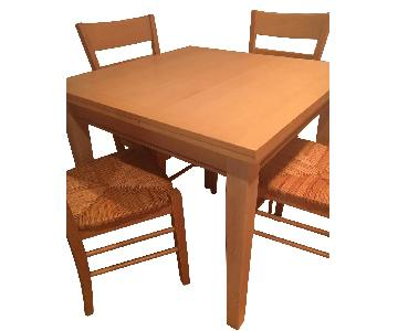 Crate & Barrel Extendable Kitchen Table w/ 4 Chairs