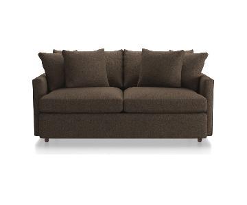 Crate & Barrel Lounge II 93 Apartment Sofa & Storage Ottoman