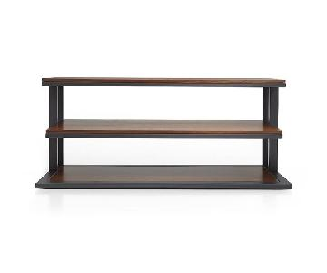 Crate & Barrel Pilsen TV/Media Console w/ Walnut Shelves