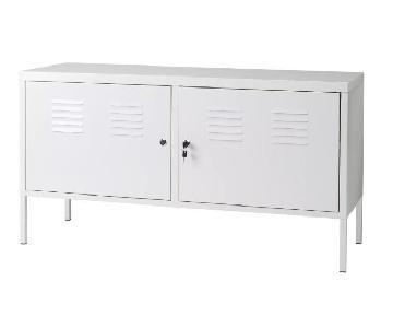 Ikea Metal Lockable Storage Cabinet in White