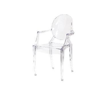 CB2 Acrylic Chairs