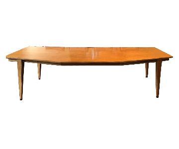 Custom Made Satin Wood Veneer Dining Table