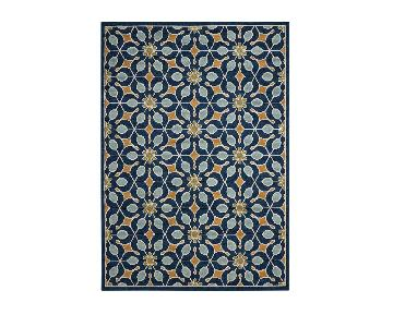 Charlton Home Lewis Navy Area Rug