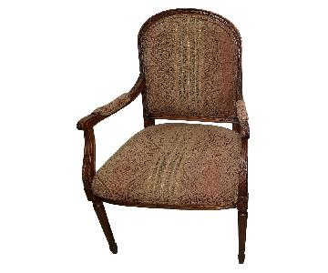 Ethan Allen Upholstered Arm Chairs