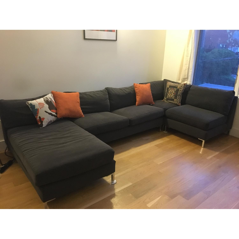 ... CB2 Slate 4 Piece Sectional Sofa 0 ...