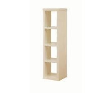 Crate & Barrel Cream Modular Open Bookcases