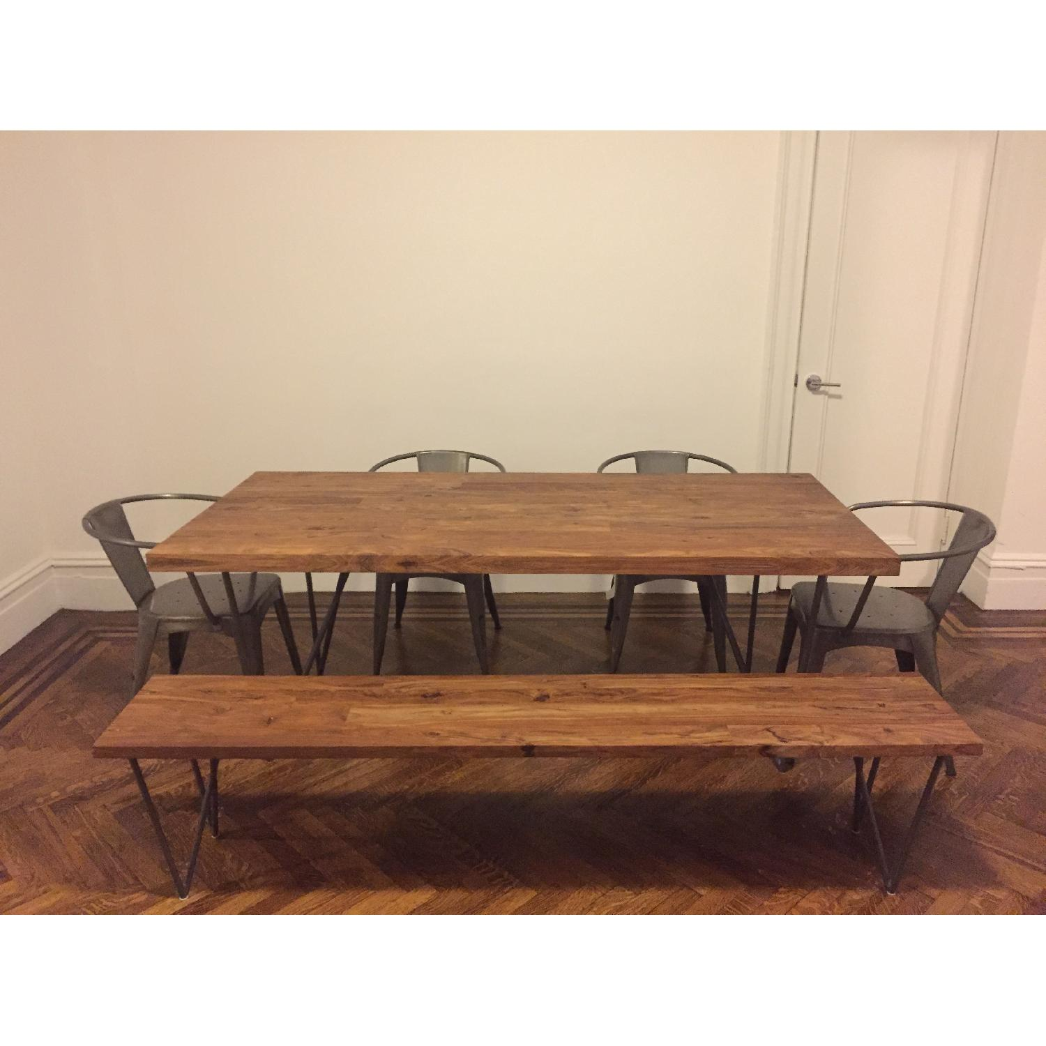 CB2 Dylan Dining Table W 1 Bench 0
