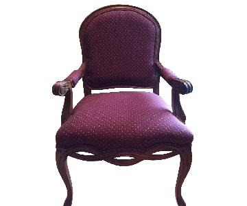 Fairfield Chair Accent Chair w/ Curved Arms in Cashew