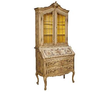 20th Century French Trumeau in Lacquered & Painted Wood
