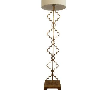 Clay Adler Home Gold Leaf Moroccan Floor Lamp