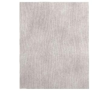 West Elm Carved Hand-Loomed Shine Rug in Silver