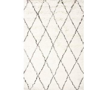 nuLoom Moroccan Trellis Wool Shag Rug