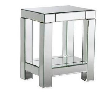 West Elm Parsons Mirrored End Table
