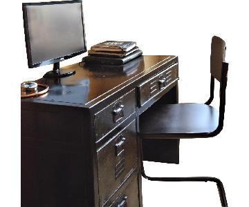 Restoration Hardware Vintage Locker Desk