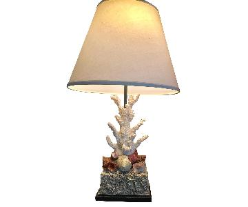 Vintage Coral Shells Table Lamp