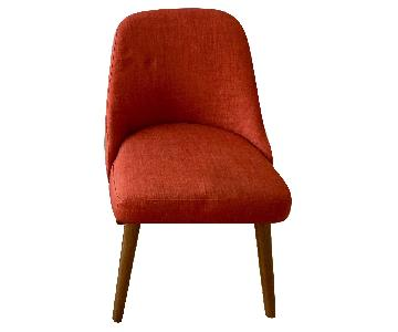 West Elm Fiery Orange Dining Chairs