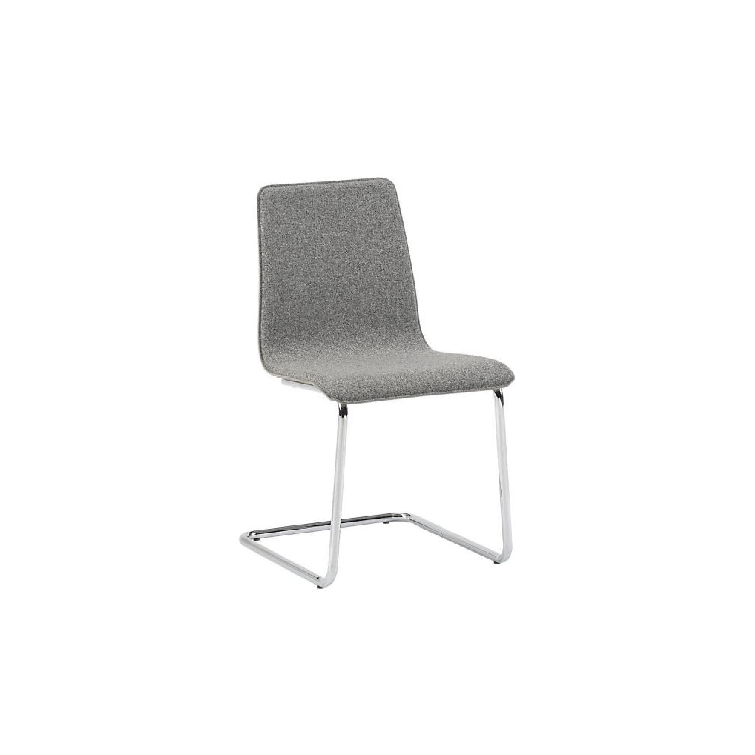 CB2 Pony Grey Tweed Dining Chairs ...