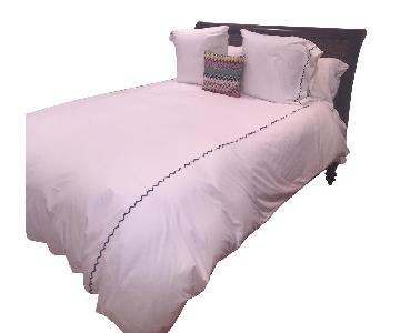 Pottery Barn Queen Maple Wood Bed