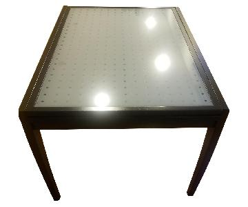Modern Glass Top Extendable Table