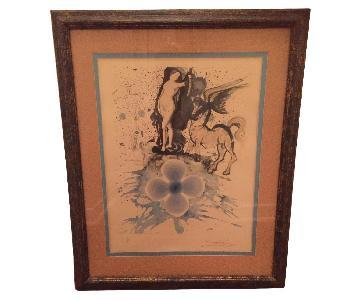 Salvador Dali Hommage a Cranach Framed Lithograph