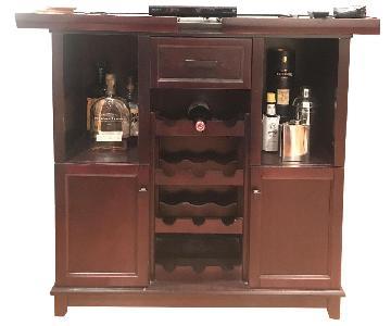Dark Wood Bar Cart/ TV Stand