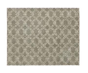 Pottery Barn Scroll Tile Area Rug in Grey