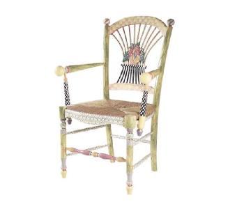 Mackenzie-Childs Light Flower Basket Armchair