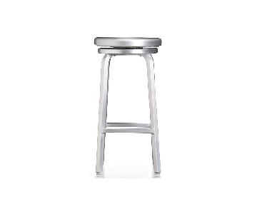 Crate & Barrel Spin Swivel Backless Stools