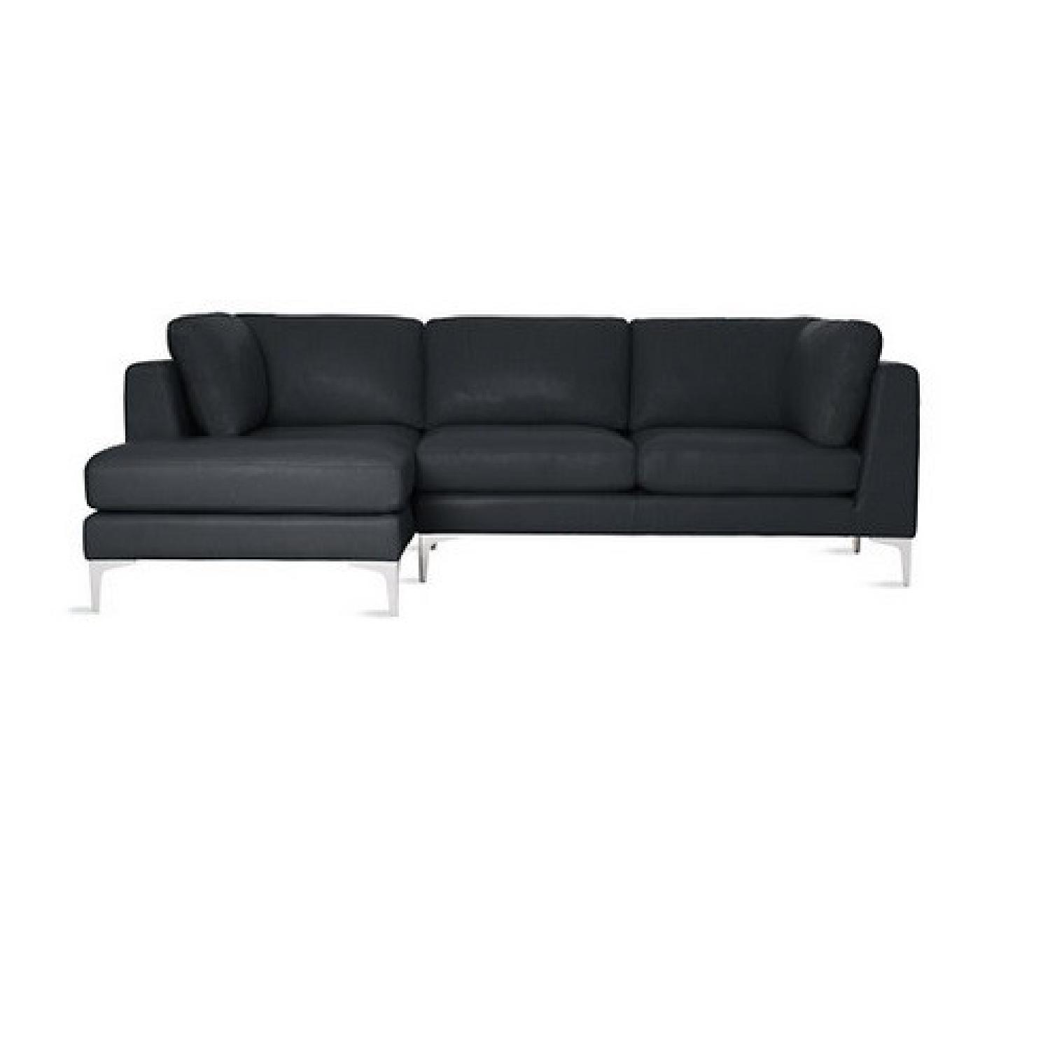 sectional carnation dsc leather eco sofa black modern