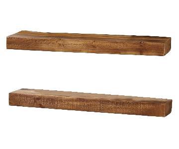 West Elm Emmerson Reclaimed Pine Floating Shelves