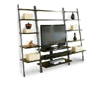 Room & Board Leaning TV Unit w/ 2 Bookcases