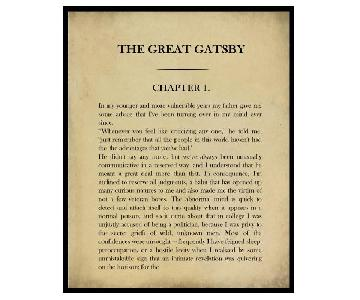 Framed Classic Book Page The Great Gatsby