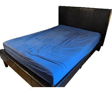 Faux Leather Upholstered Platform Bed