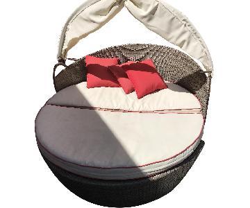 Breakwater Bay Lorren Patio 3 Piece Daybed w/ Cushions
