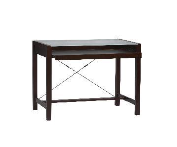 Crate & Barrel Glass & Wood Desk