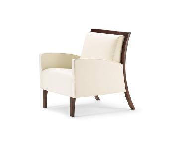 Gunlocke Company Gracile Leather Club Chair