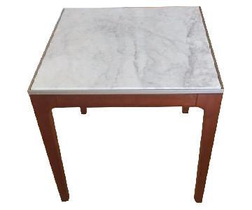 Gunlocke Company Kenna Marble Top Side Tables
