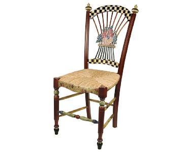 Mackenzie-Child Dark Flower Basket Side Chair