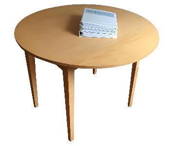 Small Circular Drop-Leaf Side Table
