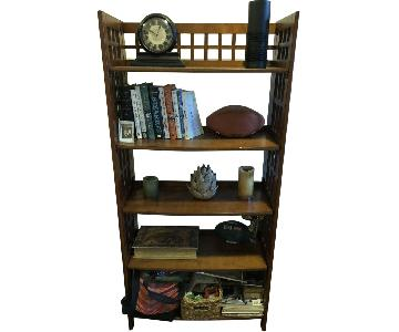 Pottery Barn Wood Bookcase