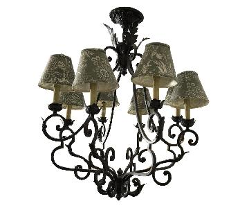 Country French Iron Chandelier