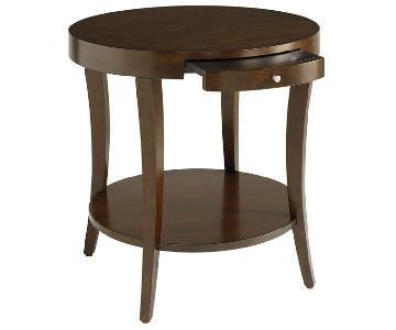 Bassett Presidio Pine Round Side Table