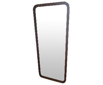 Antique Wood Framed Full Length Mirror